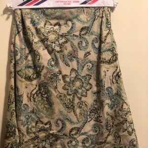 Loft work skirt